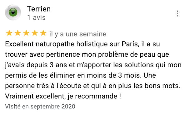 Naturopathe à Paris témoignage consultation